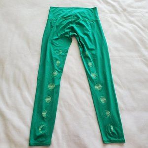 Teeki Size Medium Moon Phases Phase Leggings Green